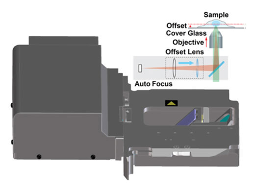 Near IR laser autofocus