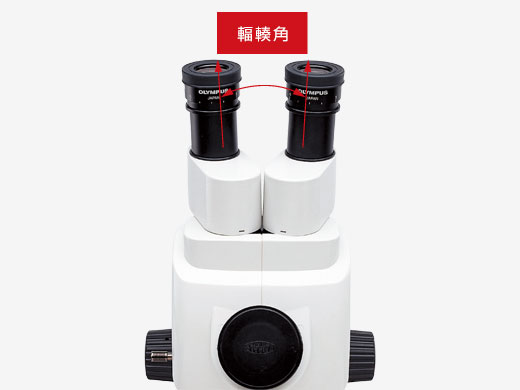 輻輳角付き観察鏡筒